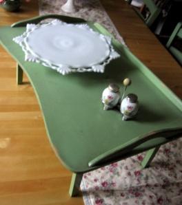Lap desk, cake plate and Salt & Pepper Shaker