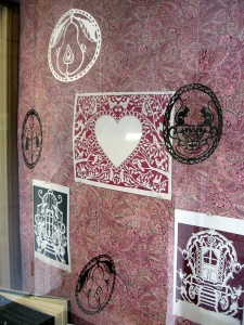 If there is interest, I will have a papercutting workshop, upstairs
