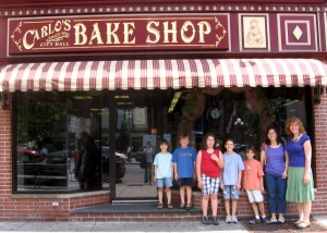 Where's Buddy? We are outside Carlo's bakery the home of 'Cake Boss'