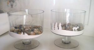 winter trifle glass